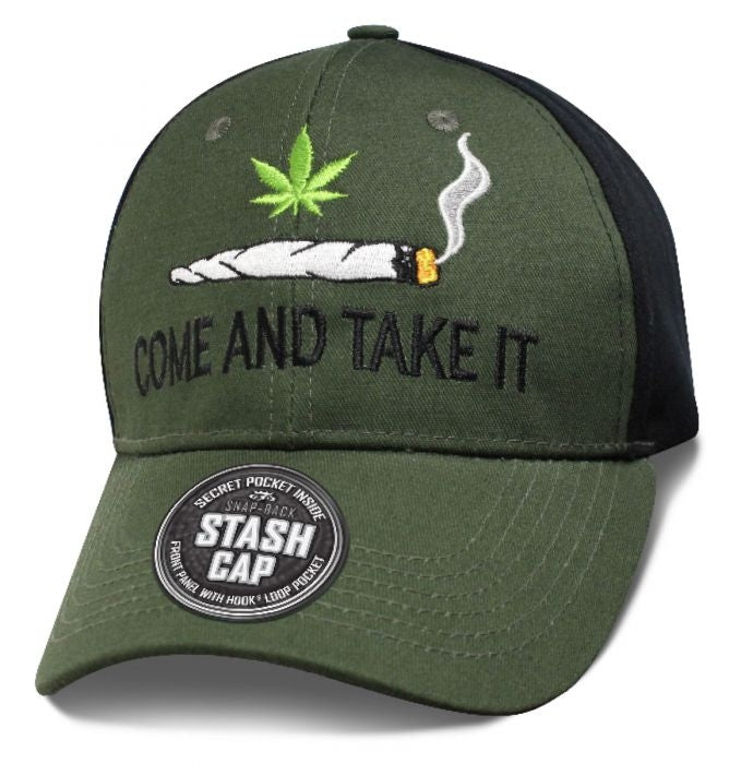 Come And Take It Blunt Green and Black Hat - SHCOMH Hats Virginia City Motorcycle Company Apparel
