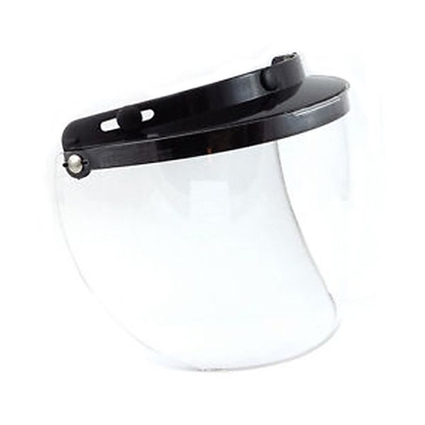 3-Snap Flip Full Helmet Shield - Hard Coated Clear - 02-205 Helmet Accessories Virginia City Motorcycle Company Apparel
