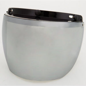 3-Snap Flip Full Helmet Shield - Hard Coated Silver Mirror - 02-211 Helmet Accessories Virginia City Motorcycle Company Apparel