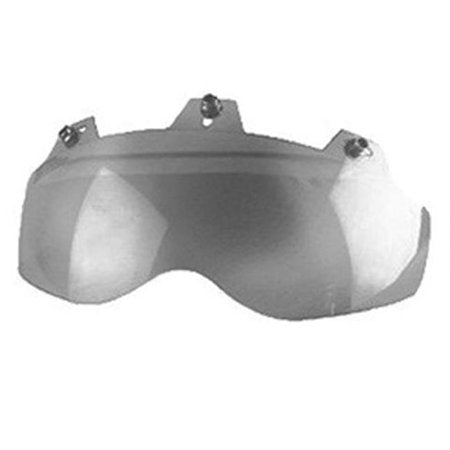 3 Snap Shorty Helmet Face Shield - Hard Coated Silver Mirror - 02-311 Helmet Accessories Virginia City Motorcycle Company Apparel