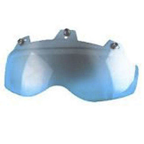 3 Snap Shorty Helmet Face Shield - Hard Coated Blue Mirror - 02-312 Helmet Accessories Virginia City Motorcycle Company Apparel