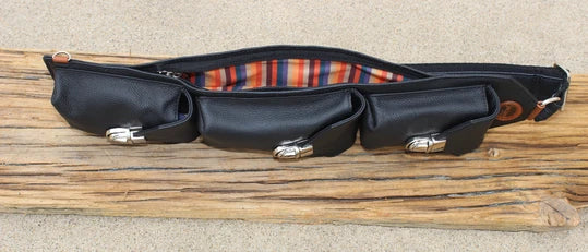 Black Pebble Leather Motorcycle Freedom Sling - 10111 Bags & Wallets Virginia City Motorcycle Company Apparel