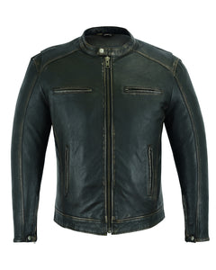 Men's Lightweight Distressed Cruiser Motors Jacket  - DS743 Men's Jackets Virginia City Motorcycle Company Apparel