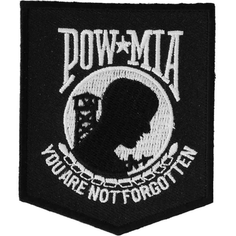 Patch | POW MIA Patch Black White | P2018 Patches Virginia City Motorcycle Company Apparel