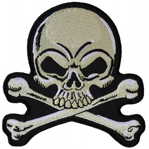 Patch | Skull and Crossbones | P6107 Patches Virginia City Motorcycle Company Apparel