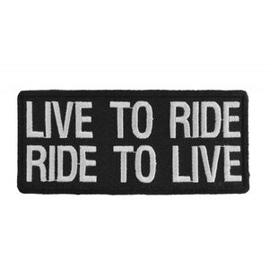 Patch | Live To Ride Ride To Live | P1059 Patches Virginia City Motorcycle Company Apparel