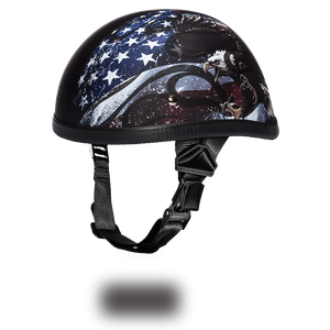 Novelty Helmet - EAGLE- W/ FLAMES USA - Non-DOT - 6002USA half helmet Virginia City Motorcycle Company Apparel