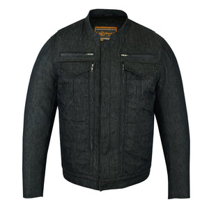 Men's Rough Rub-Off Raw Finish Denim Jacket - DM915 Men's Jackets Virginia City Motorcycle Company Apparel