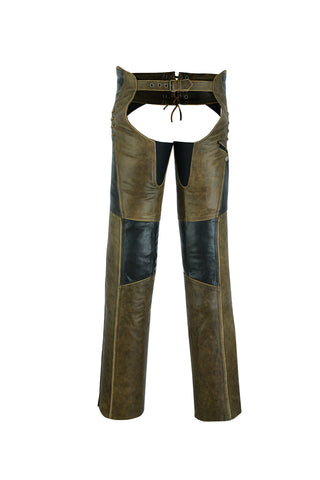 Women's Stylish Lightweight Hip Set Chaps- Two Tone - DS498 Chaps Virginia City Motorcycle Company Apparel
