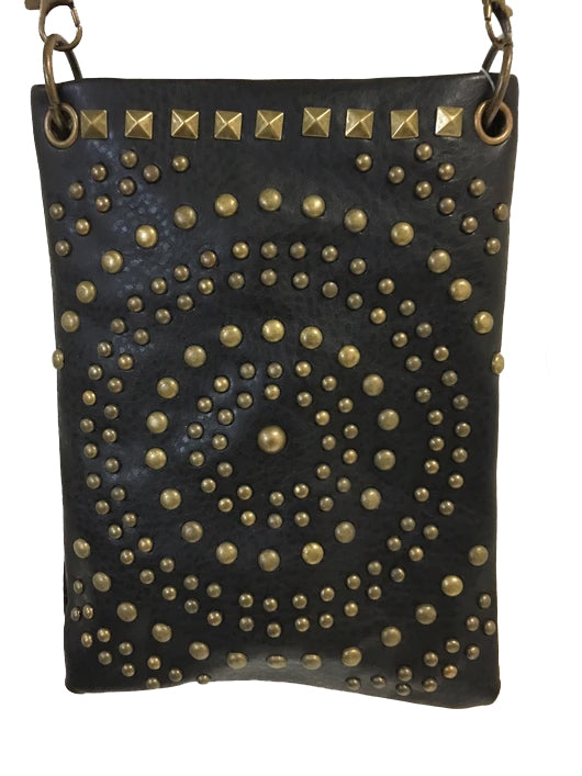 Chic Bag Crossbody Handbag - Antique bronze hardware  - CHIC1001-BLK Bags & Wallets Virginia City Motorcycle Company Apparel