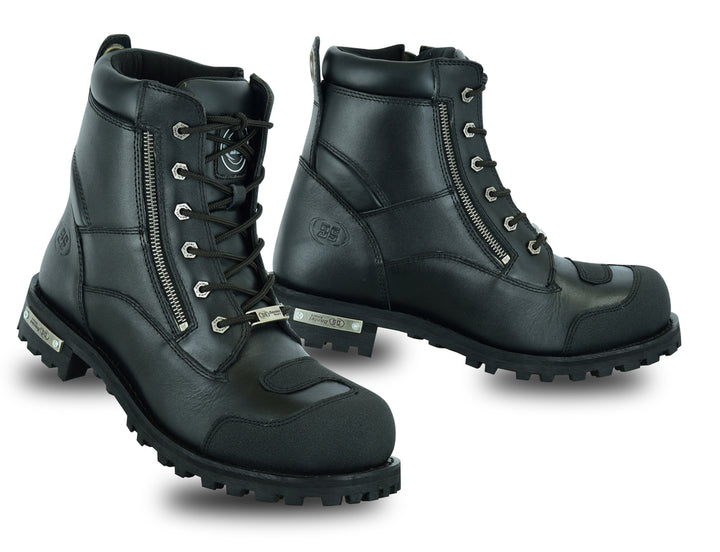 Men's Side Zipper Waterproof Ankle Protection Boots - 9741 Men's Boots Virginia City Motorcycle Company Apparel