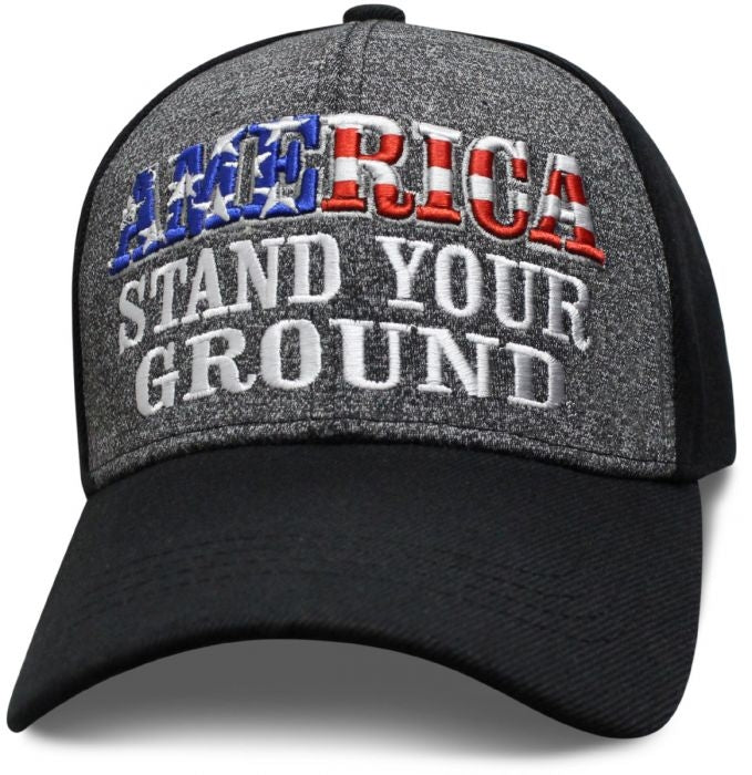 America Stand Your Ground  Ball Cap Hat - SAMSTD cap Virginia City Motorcycle Company Apparel