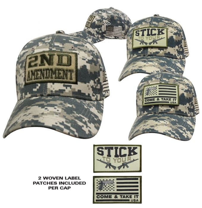 Ballcap - Patch Base Cap Hat - Digital Camo - SPBCDC cap Virginia City Motorcycle Company Apparel