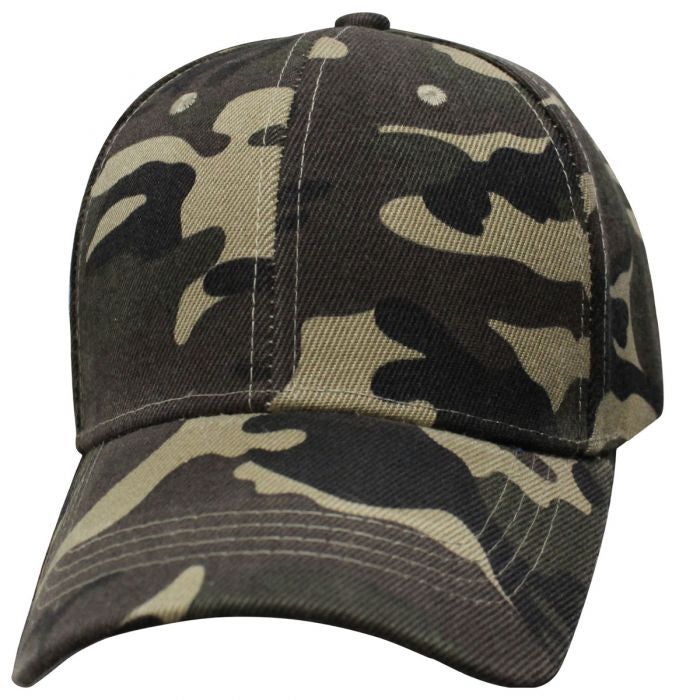 Military Green Camo Ballcap - Blank - 6SMGC cap Virginia City Motorcycle Company Apparel