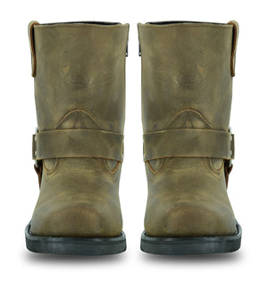 Men's Side Zipper Waterproof Boots- Brown - DS9742 Men's Boots Virginia City Motorcycle Company Apparel
