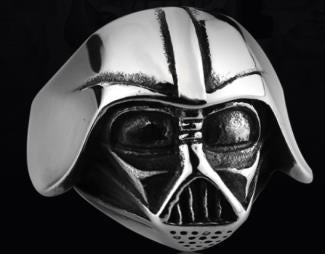 R120 Stainless Steel Star Wars Face Skull Biker Ring Rings Virginia City Motorcycle Company Apparel