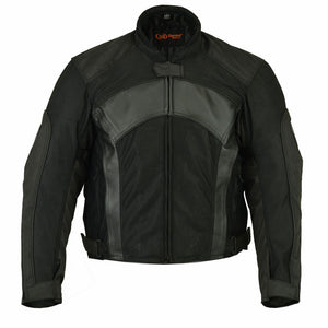 DS750BK Men's Mesh/ Leather Padded Jacket Men's Jackets Virginia City Motorcycle Company Apparel