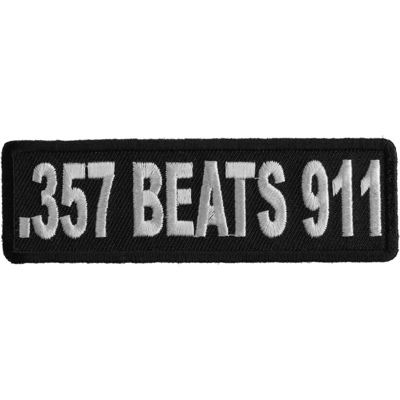 P1234 357 Beats 911 Patch Patch Virginia City Motorcycle Company Apparel