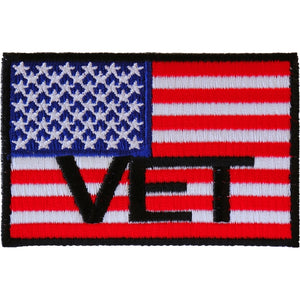 P3143 American Flag Vet Patch Patch Virginia City Motorcycle Company Apparel