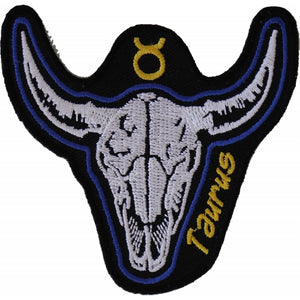 P5470 Taurus Skull Zodiac Sign Patch New Arrivals Virginia City Motorcycle Company Apparel