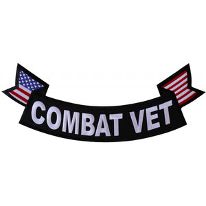 PL6558 Combat Vet Extra Large Rocker Patch New Arrivals Virginia City Motorcycle Company Apparel