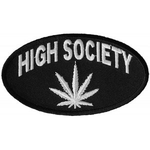 P3318 High Society Patch Patch Virginia City Motorcycle Company Apparel