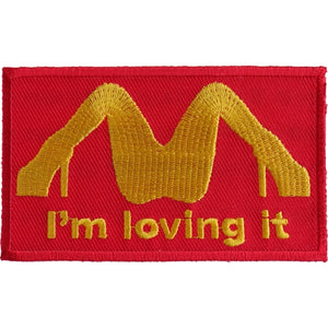 P2934 I'm Loving It Patch Patch Virginia City Motorcycle Company Apparel