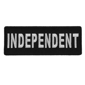 P4426 Independent Black White 4 Inch Patch Patches Virginia City Motorcycle Company Apparel