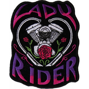 P6020 Lady Rider Path with Engine Roses New Arrivals Virginia City Motorcycle Company Apparel