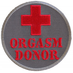 P2927 Orgasm Donor Patch Patch Virginia City Motorcycle Company Apparel