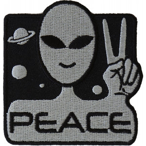 P4912 Peace Alien Fun Patch New Arrivals Virginia City Motorcycle Company Apparel