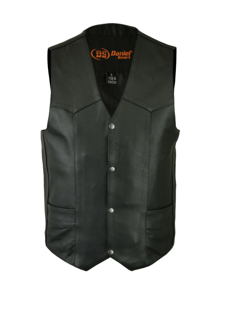 Daniel Smart - Men's Traditional Single Back Panel Concealed Carry Vest - DS110 Men's Vests Virginia City Motorcycle Company Apparel
