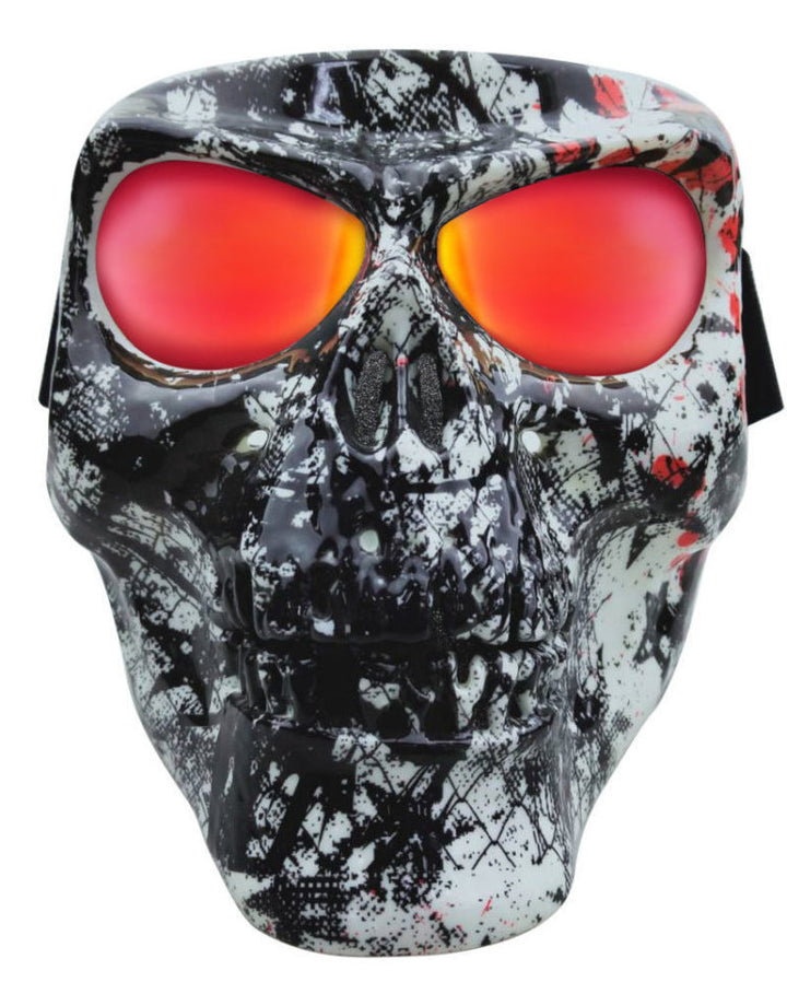 Skull Full Face Mask - Grunge Star - SMSG Full Facemasks Virginia City Motorcycle Company Apparel
