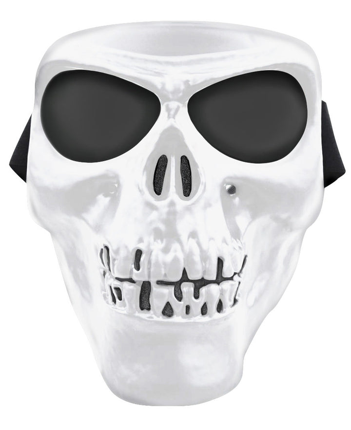 Skull Full Face Mask - White - SMWS *Limited Edition* Full Facemasks Virginia City Motorcycle Company Apparel