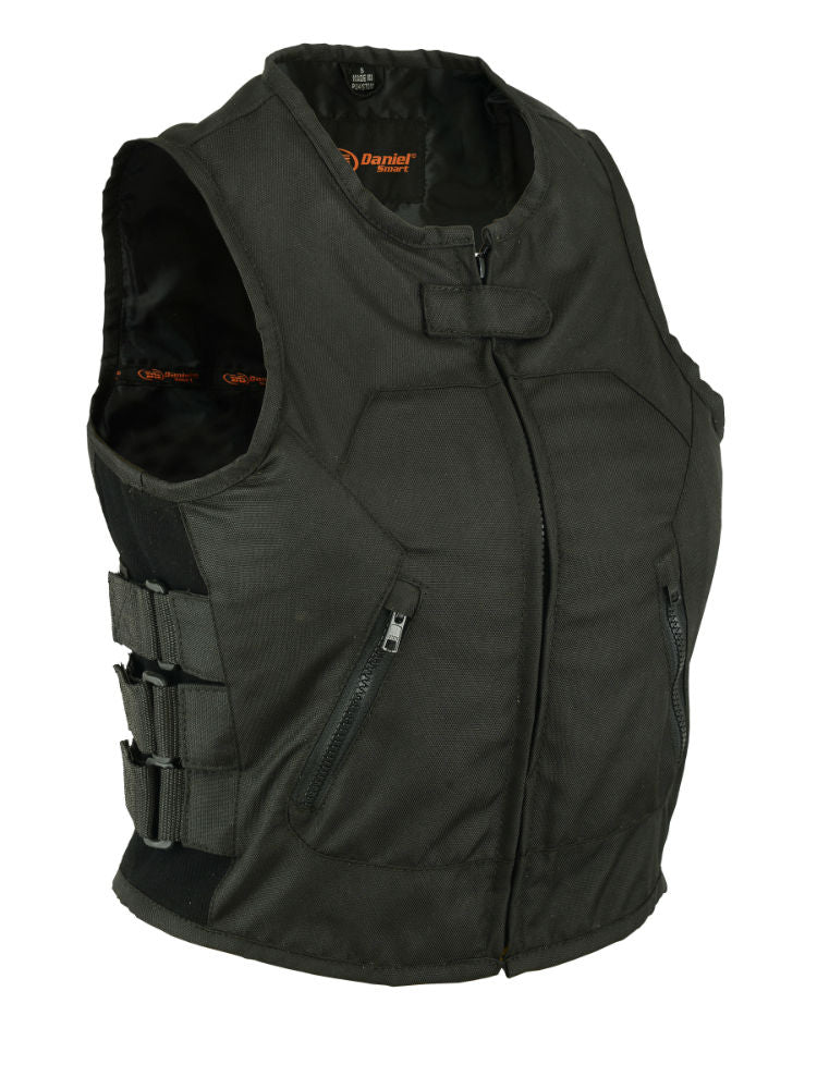 Daniel Smart - Women's Textile Updated SWAT Team Style Vest - DS212BK Close Outs Virginia City Motorcycle Company Apparel