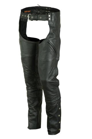 DS404 Unisex Economy Double Deep Pocket Chaps Chaps Virginia City Motorcycle Company Apparel