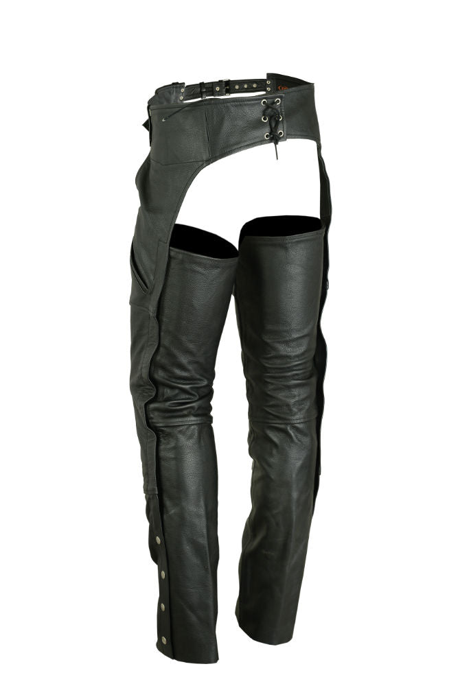 Unisex Economy Double Deep Pocket Chaps - DS404 Chaps Virginia City Motorcycle Company Apparel