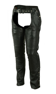 DS478 Unisex Double Deep Pocket Thermal Lined Chaps Chaps Virginia City Motorcycle Company Apparel
