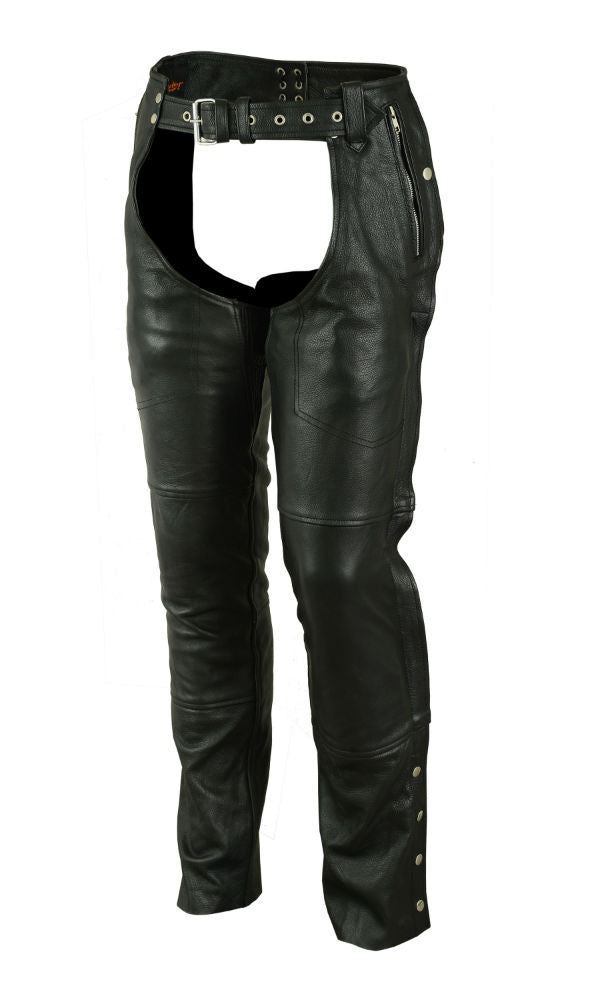 Unisex Double Deep Pocket Thermal Lined Chaps - DS478 Chaps Virginia City Motorcycle Company Apparel