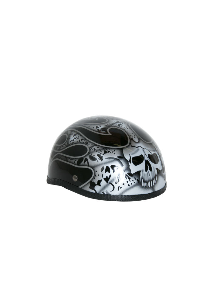 H13SV  Novelty Eagle Silver Skull & Flames - Non- DOT Close Outs Virginia City Motorcycle Company Apparel