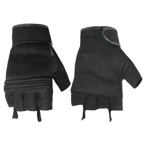 Mesh Fingerless Glove / Synthetic Leather / Gel Palm - DS10 Gloves Virginia City Motorcycle Company Apparel