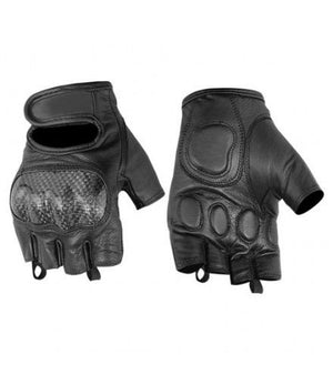 Sporty Fingerless Glove / Hard Knuckles - DS18 Gloves Virginia City Motorcycle Company Apparel