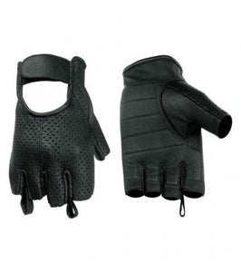 Perforated Fingerless Glove / Lightweight / Gel Palm - DS14 Gloves Virginia City Motorcycle Company Apparel