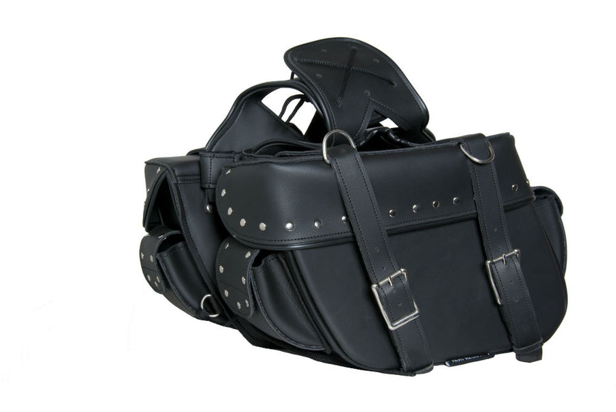 DS312S Two Strap Saddle Bag w/ Studs Saddle Bags Virginia City Motorcycle Company Apparel