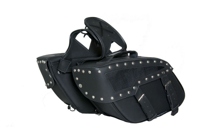 DS313S Two Strap Saddle Bag w/ Studs Saddle Bags Virginia City Motorcycle Company Apparel