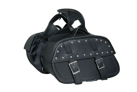 DS342S Two Strap Saddle Bag w/ Studs Saddle Bags Virginia City Motorcycle Company Apparel