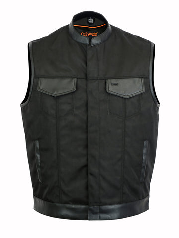 Concealed Snap Closure, Textile Material, Men's Vest - DS689 Men's Vests Virginia City Motorcycle Company Apparel