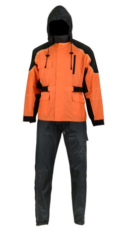 DS591OR Rain Suit (Orange) Rain Suits Virginia City Motorcycle Company Apparel