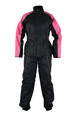 DS598PK Women's Rain Suit (Hot Pink) Rain Suits Virginia City Motorcycle Company Apparel