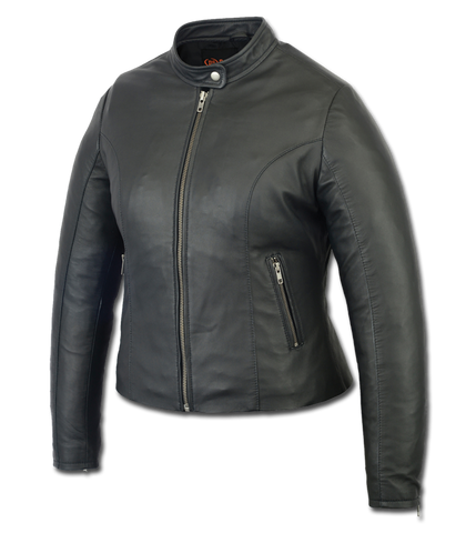 DS843 Women's Stylish Lightweight Leather Riding Jacket Women's Jackets Virginia City Motorcycle Company Apparel
